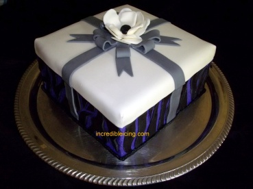 #101- Pretty Gift Cake