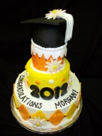 #111- Who says Graduation cakes need to be school colors