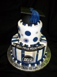 #114- Masculine Graduation Cake