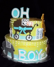 #126- Oh Boy Baby Cake