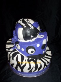 #60- Topsy Turvy Volleyball Cake