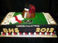 #102- Twins Graduation Cake