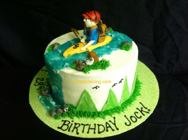 #203- Kayaking Cake