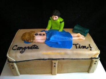 #141- Massage Therapy Graduation Cake