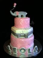 Baby Girl's Shower Cake