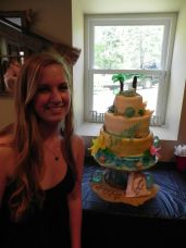 #330- Miss Devilyn wanted a beach themed Graduation cake for a Mermaid at Heart!