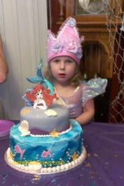 #262- Brookie and her Little Mermaid Cake