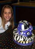#60- McKenzie and her Purple Volleyball cake