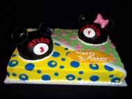 Mickey and Minnie shared Birthday cake