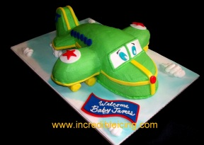 Airplane Baby Cake