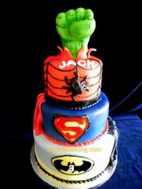 Jack's Superhero Cake