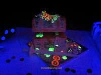 Treasure Chest in the Black Light