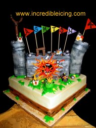 #343- Angry Birds Cake