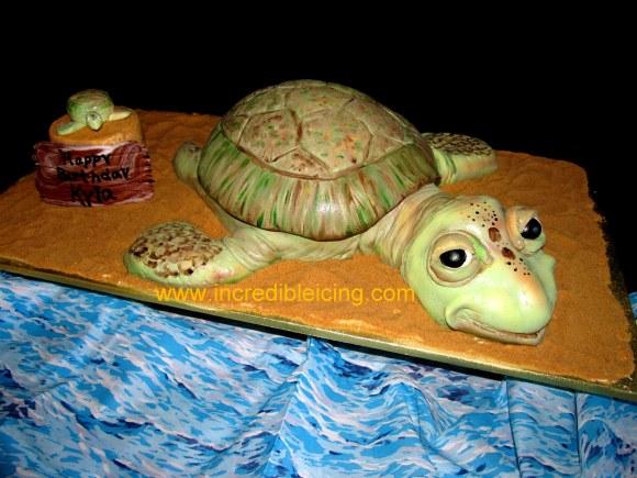 #414- Turtles on the beach