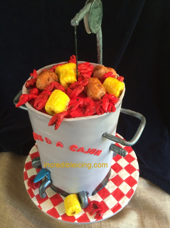 #319- Crawfish Boil Cake