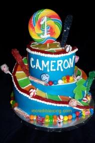 #356- Sweet Candyland Inspired Cake