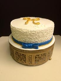 #447- Scroll Anniversary Cake